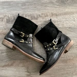 Coach Lilliana Ankle Boots Belted Studded 7.5